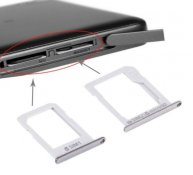 For Samsung Galaxy E5 (Dual SIM Version) SIM Card Tray + Micro SD / SIM Card Tray(Silver)