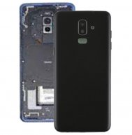 Back Cover with Side Keys & Camera Lens for Galaxy J8 (2018) / J800F(Black)
