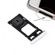 For Sony Xperia X (Single SIM Version) SIM Card Tray + Micro SD Card Tray + Card Slot Port Dust Plug(White)