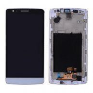 LCD with Touch Screen Digitizer and Front Cover for LG G3 mini D722 D722V D724/ Beat D722K D728/ Vigor D725(for LG) - White
