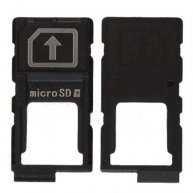 Micro Memory Card Tray for Sony Xperia Z3+ Plus E6553/ Z4 - Black