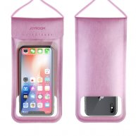 JR-CY701 IPX8 Waterproof Touch Screen Transparent Sealed Mobile Phone Waterproof Bag with Lanyard(Pink)