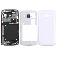 White Full Housing Cover Faceplate Replacement for Samsung Galaxy Express 2 SM-G3815