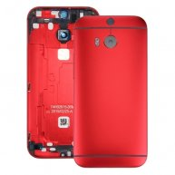 For HTC One M8 Back Housing Cover(Red)