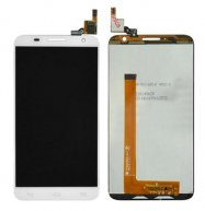 LCD Screen + Touch Screen Digitizer Assembly for Alcatel One Touch Idol 2 S / 6050 / 6050Y / OT-6050(White)