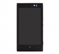 For Nokia Lumia 925 LCD Screen and Digitizer Assembly with Front Housing - Black
