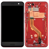 For HTC U11 LCD Screen + Touch Screen Digitizer Assembly with Frame(Red)