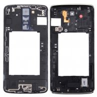 For LG K8 Back Plate Housing Camera Lens Panel with Speaker Ringer Buzzer & Vibrating Motor(Black)