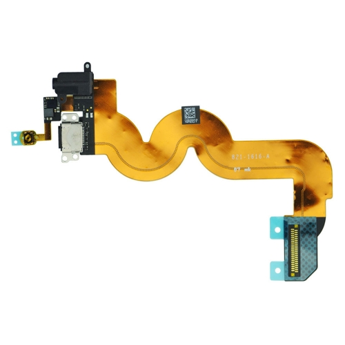 discount Dock Connector Charging Port Earphone Jack Loud Speaker Flex Cable for iPod Touch 5-Black