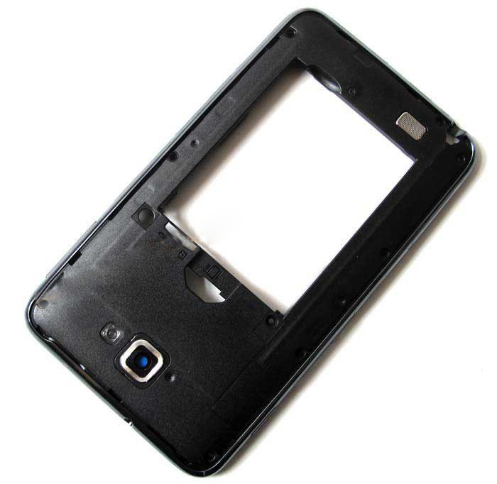 discount For samsung Galaxy Note N7000 Middle Housing Cover with Side Keys -Black
