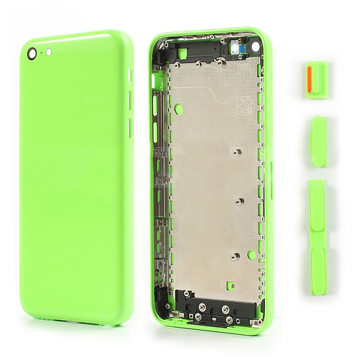 discount Green Faceplates Repair Parts for iPhone 5C with Side Buttons
