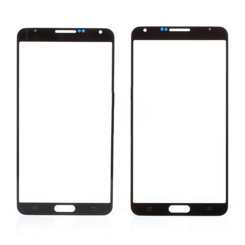 discount OR Grid Pattern Front Glass Screen Lens for Samsung Galaxy Note 3 N9005-Grey