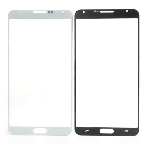 discount OR Grid Pattern Front Glass Screen Lens for Samsung Galaxy Note 3 N9005-White