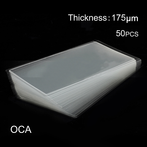discount 50pcs LCD Digitizer OCA Optical Clear Adhesive Double-side Sticker for iPhone 4, Thickness: 0.175mm