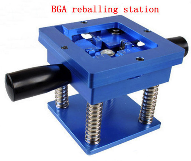 Reballing BGA Station with Handle 90mm x 90mm Stencils Template Holder Jig
