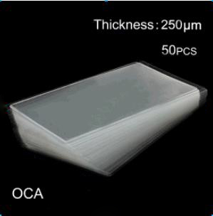discount 50pcs OCA Optical Clear Adhesive Double-side Sticker for iPhone 6 LCD Digitizer, Thickness: 0.25mm