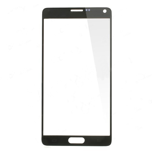 discount Black Front Glass Lens Screen Cover for Samsung Galaxy Note 4 N910