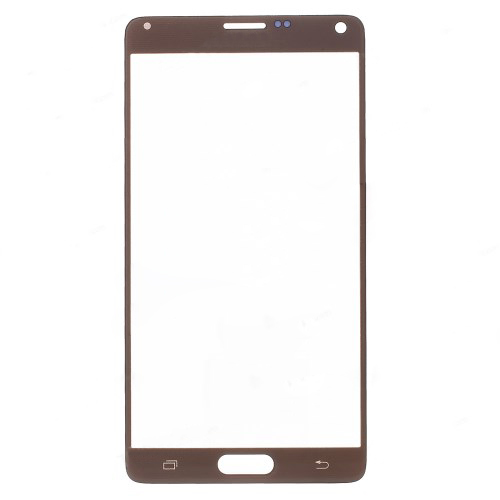 discount High Quality Gold Front Glass Screen Lens Replacement Part for Samsung Galaxy Note 4 N910