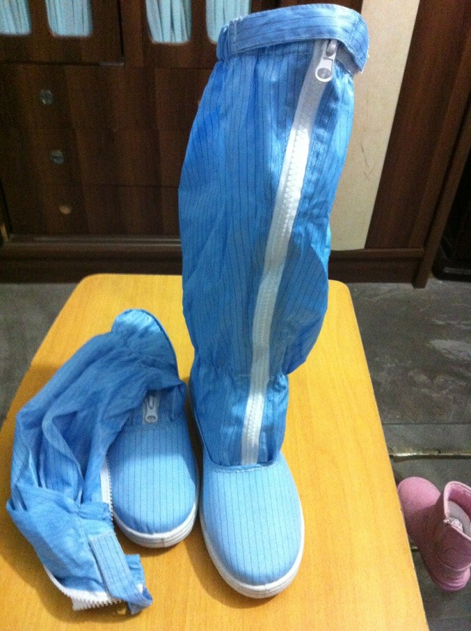discount Anti-static ESD PVC Sleeve Shoes Cleanroom Boots Antistatic Work Shoes - blue