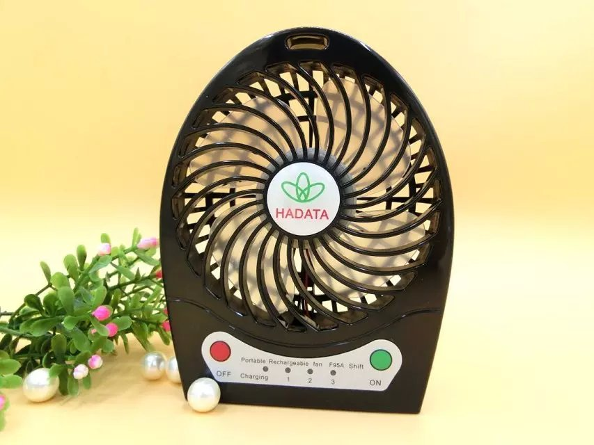 discount Colorful plastic mini electric hand fan with 2200 mAh battery/mini USB Fan-Black