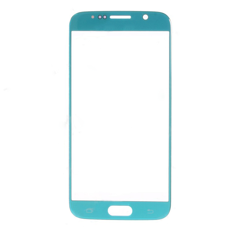 discount OEM Front Glass Lens Replace Part for Samsung Galaxy S6 G920 - Light Blue