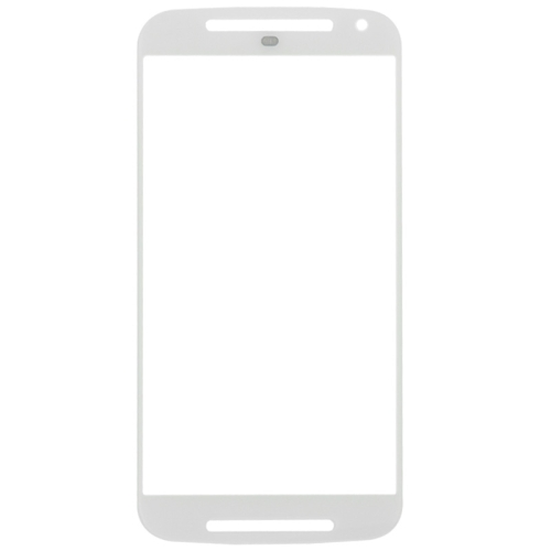 discount Front Screen Outer Glass Lens for Motorola Moto G (2nd Gen) / XT1063(White)