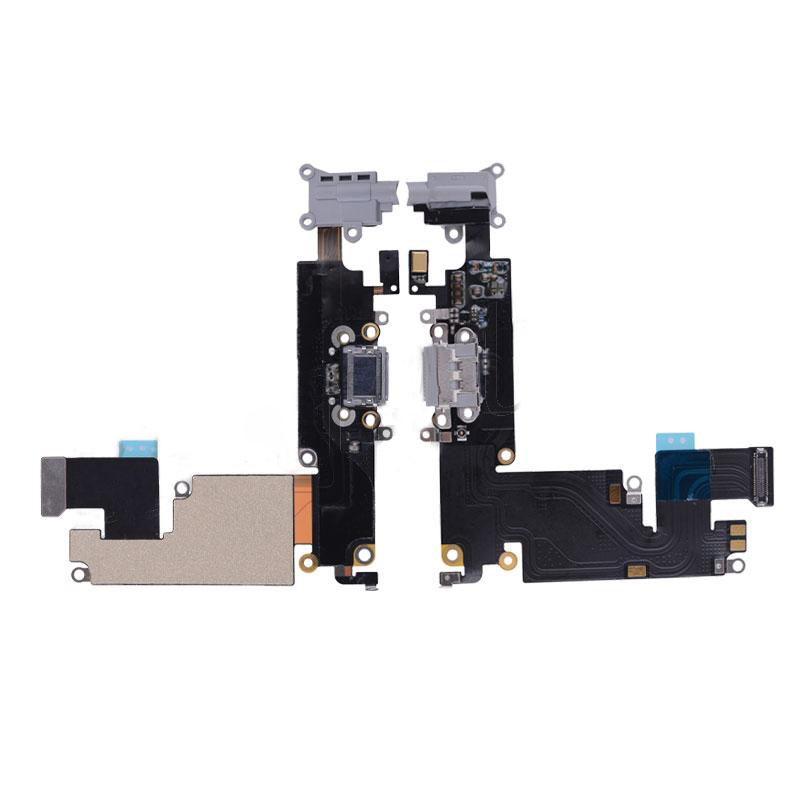 discount High Quality Charging Port with Flex Cable, Earphone Jack and Mic for iPhone 6 Plus(5.5 inches) - Dark Gray