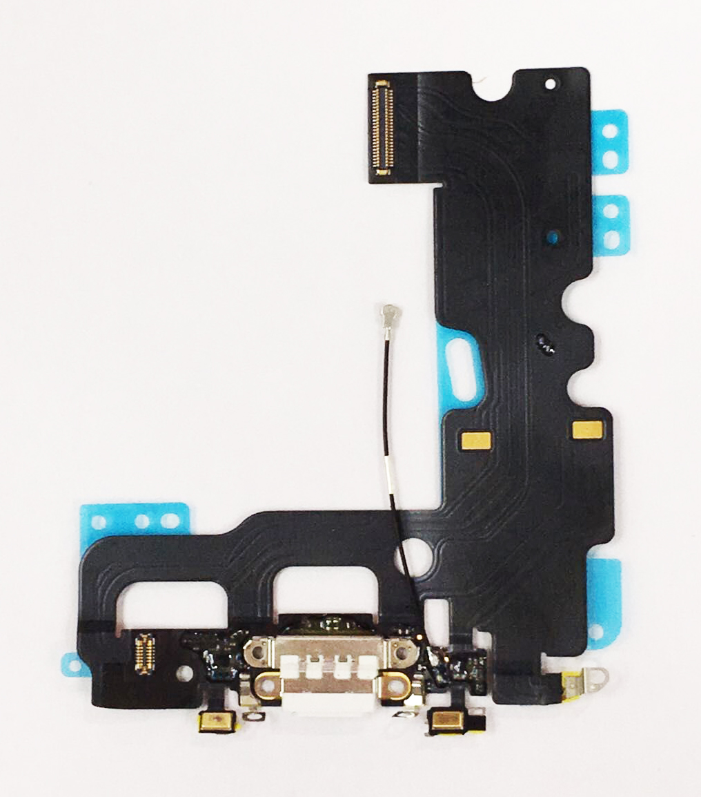 "discount Charging Port with Flex Cable Microphone for iPhone 7 4.7""-White"