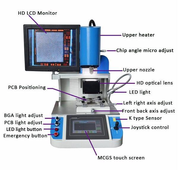 Professional auto bga chips reballing rework station WDS-700 iphone ic  remove machine