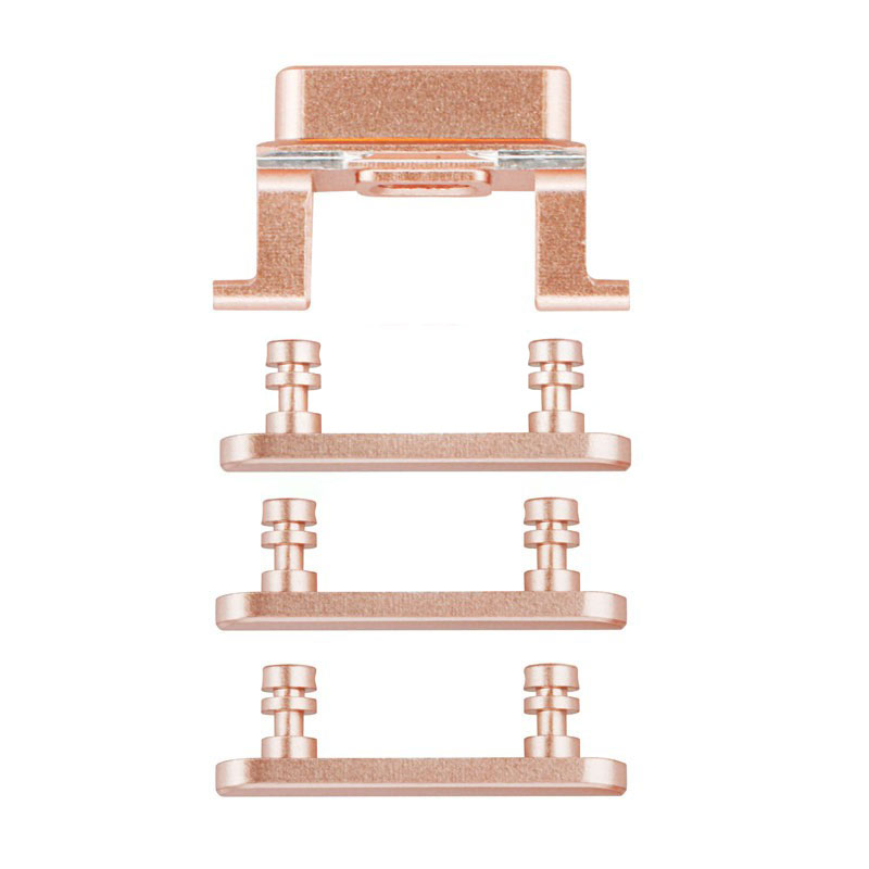 For iPhone 7 Side Keys Replacement (4 pcs/set) - Rose Gold