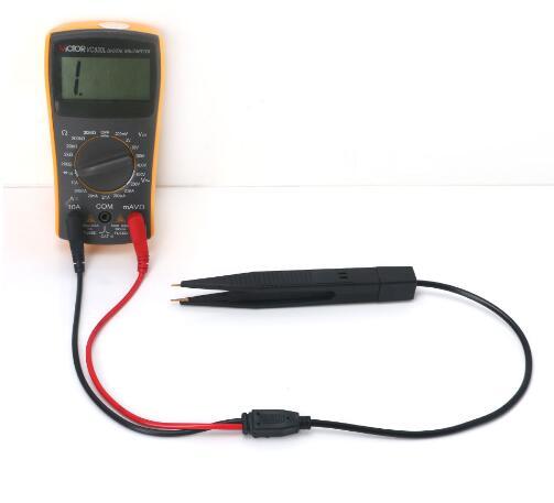 Multimeter SMD Inductor Test Clip Probe Tweezers for Resistor Capacitor Measure