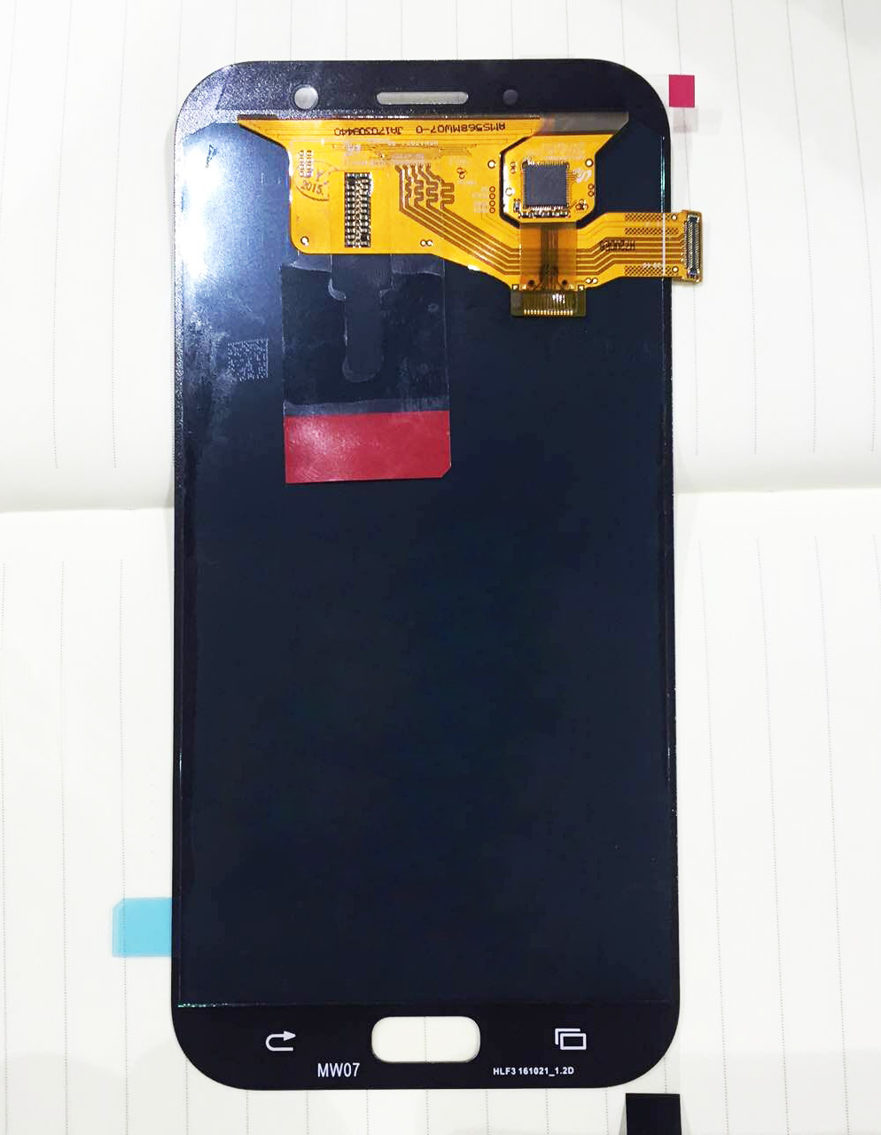 For Samsung Galaxy A7 (2017) / A720 LCD Screen + Touch Screen Digitizer Assembly-Gold