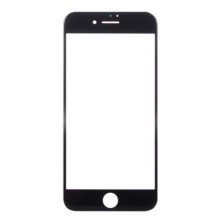 High Quality for iPhone 8 Plus Front Screen Outer Glass Lens(Black)