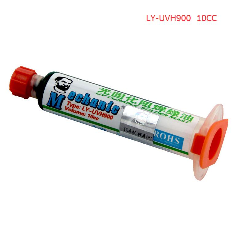 MECHANIC 10ML GREEN UV SOLDER MASK BGA PCB PAINT PREVENT CORROSIVE ARCING Soldering Paste Flux PCB UV Photosensitive Inks