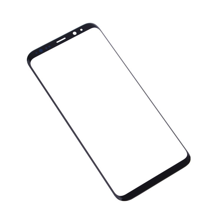 High Quality For Samsung Galaxy S8 Plus Front Screen Outer Glass Lens with OCA Sticker(Black)