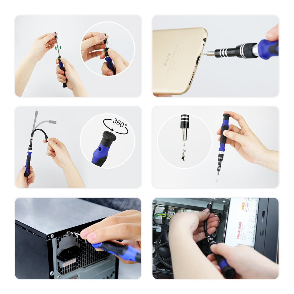 81-in-1 Precision Screwdriver Set Wilder Magnetic Driver Kit with 54 Bits Repair Tool kits for iPhone 7 iPad Laptops PC camera