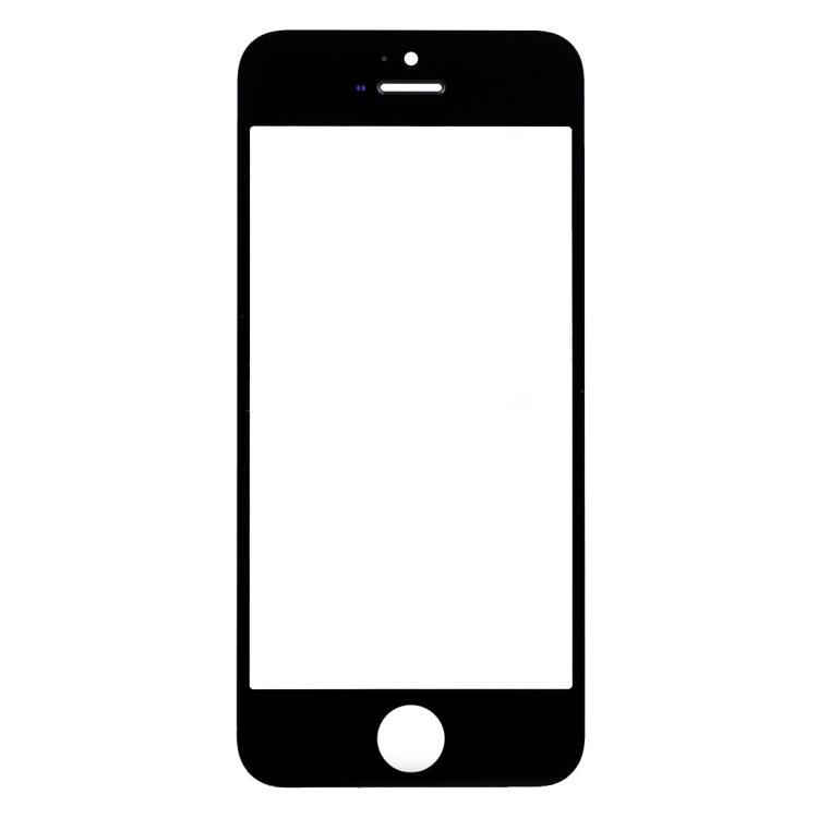 High Quality For iPhone SE Front Screen Outer Glass Lens(Black)