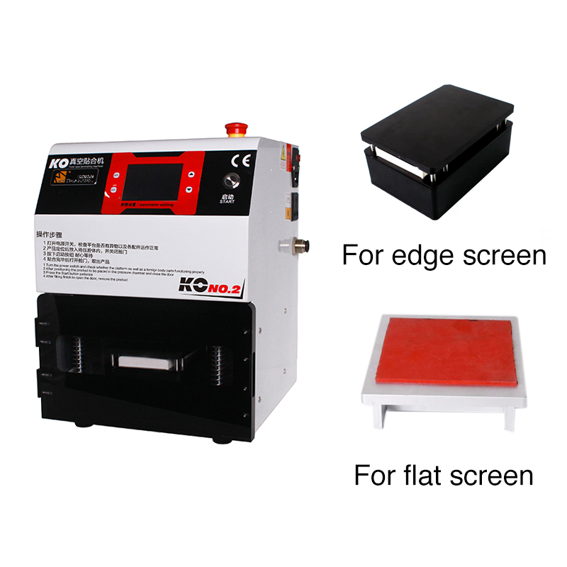 The Newest Upgrade KO Vacuum Edge Screen Lcd Laminating And Bubble Removing Machine with Edge Moulds