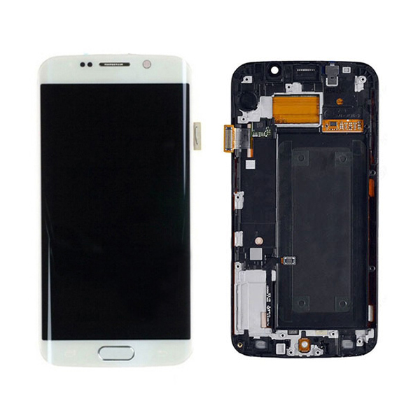 Screen Replacement With Frame for Samsung Galaxy S6 edge G925F White HQ