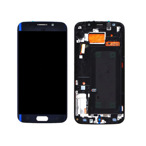 Screen Replacement With Frame for Samsung Galaxy S6 Edge G925F Blue HQ