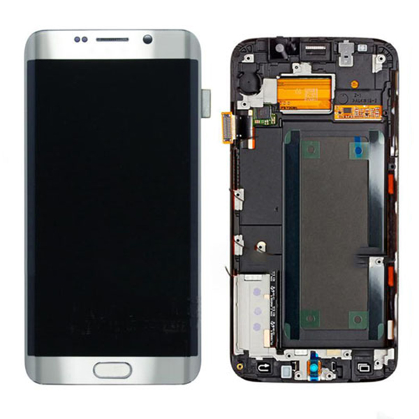 Screen Replacement With Frame for Samsung Galaxy S6 edge+ G928F Silver HQ
