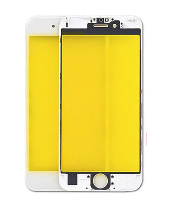 For Iphone 6S 4.7' Front Glass Touch Screen Lens(OR) with Frame(OR)-White