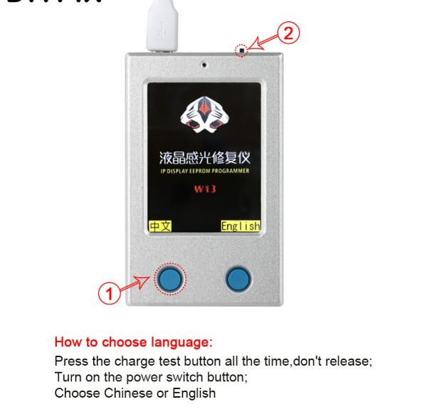 For iPhone7/7P/8/8P/X Vibrate LCD Screen Display EEPROM Programmer Photosensitive Repairer Data Read Write Backup Programmer