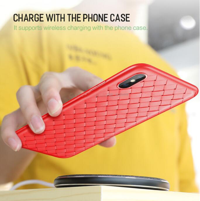 ROCK Slim Weave Style TPU Soft Case for iPhone X/XS/XS Max/XR