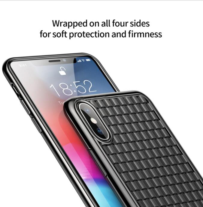 Baseus Weave Style Ultra-thin TPU Soft Case for iPhone XS Max