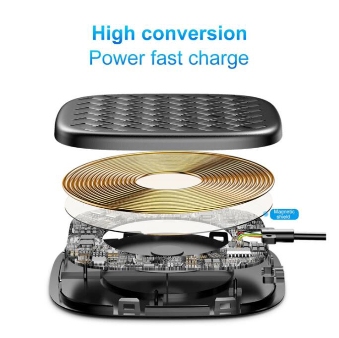 Baseus BV Simple Plastic + TPU + Silicone 10W Max Qi Wireless Charger Pad