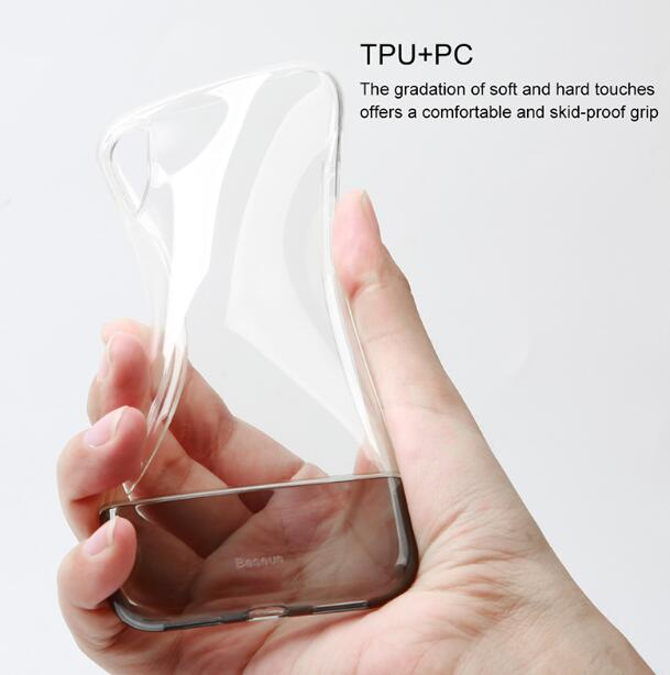 Baseus PC + TPU Hybrid Case For iPhone Xs Fashion Transparent Silicone Case For iPhone Xs Xs Max XR 2018 Phone Accessories Cover