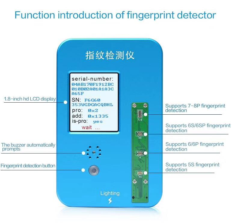 Home Button Fingerprint Intelligent Tester stand Touch ID Check Programmer  For iPhone 5S/6G/6P/6S/6SP/7/7P/8/8P