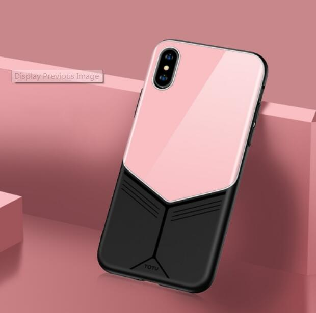 TOTUDESIGN Grace Series TPU + PC + Glass Protective Case for iPhone X/XS/XR/XS Max