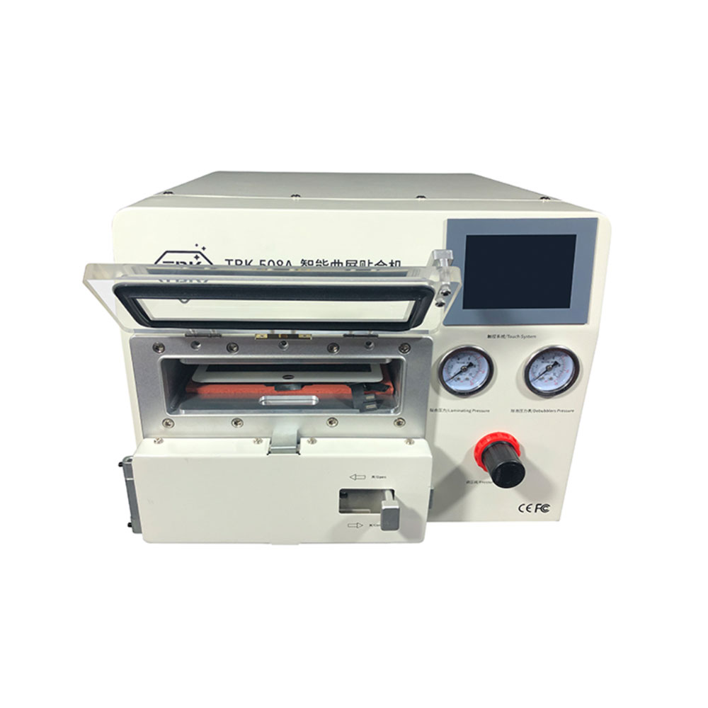 Big size edge screen 5 in 1 lcd vacuum laminating machine bubble removing machine  for tablet Samsung